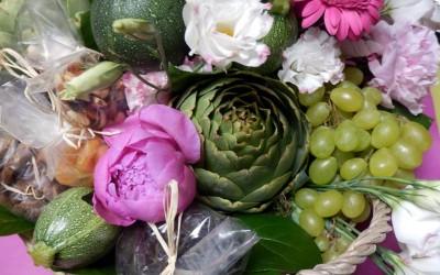 bouquet fleurs fruit legume