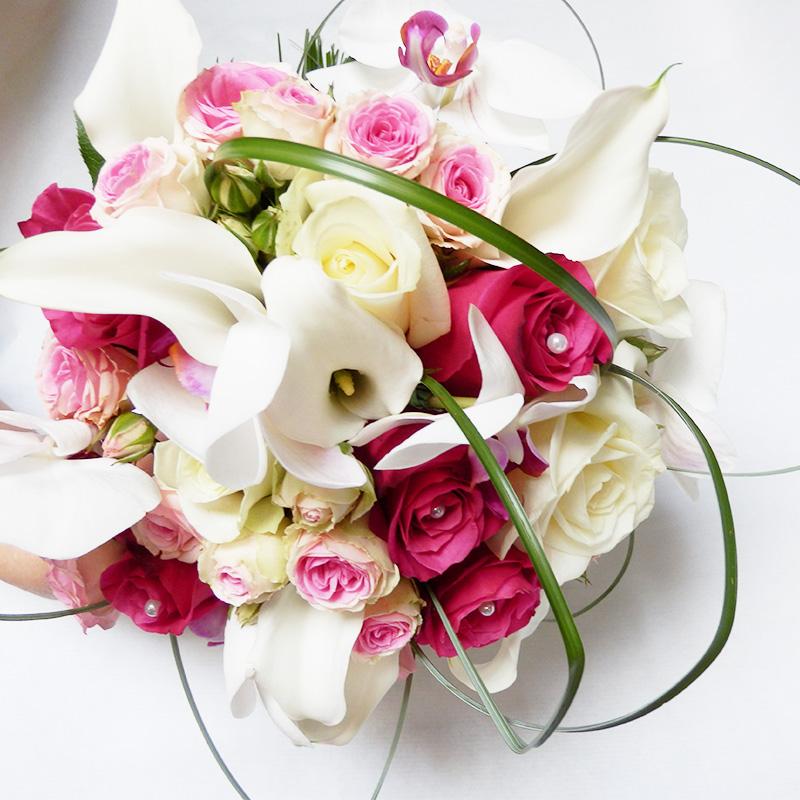Bouquet de la mari e et accessoires pour votre mariage - Bouquet mariee rose ...