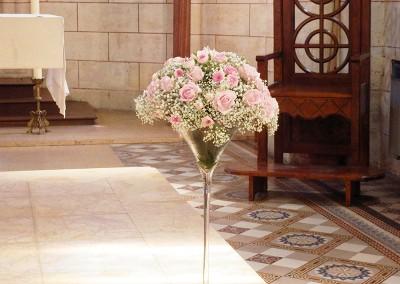 Un mariage sur des notes de rose et blanc