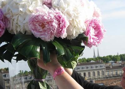 Décoration Hortensias et Pivoines pour un mariage
