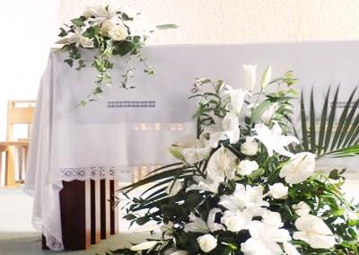 Une décoration florale blanche