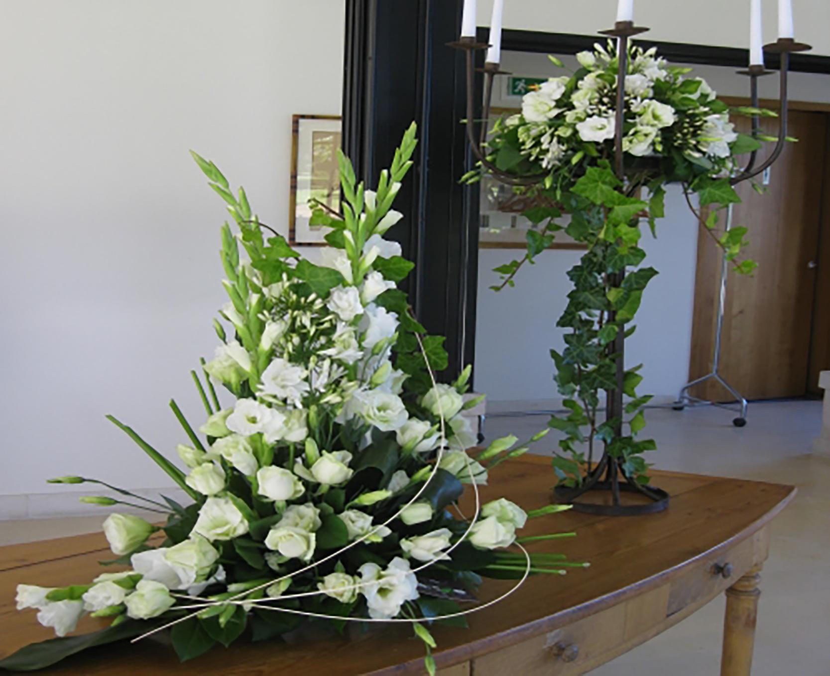 une d coration florale de mariage raffin e. Black Bedroom Furniture Sets. Home Design Ideas