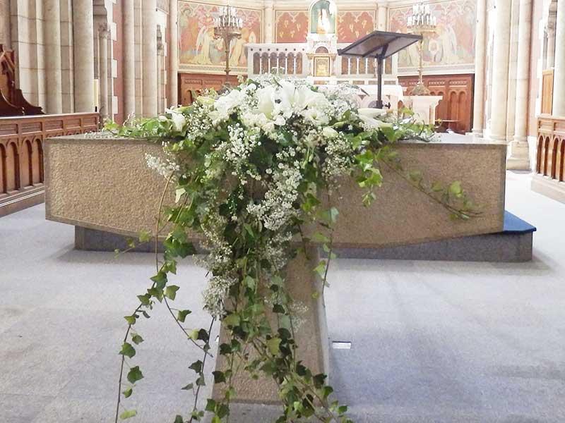 Composition Florale Eglise Arcachon Fleuriste Bordeaux
