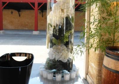 Un mariage d'hortensias blanc