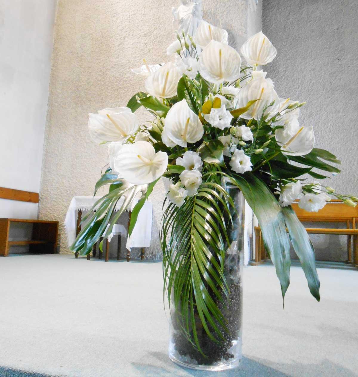 Une d coration florale de mariage exotique - Deco florale mariage ...
