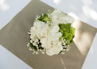 Mariage thème blanc et vert