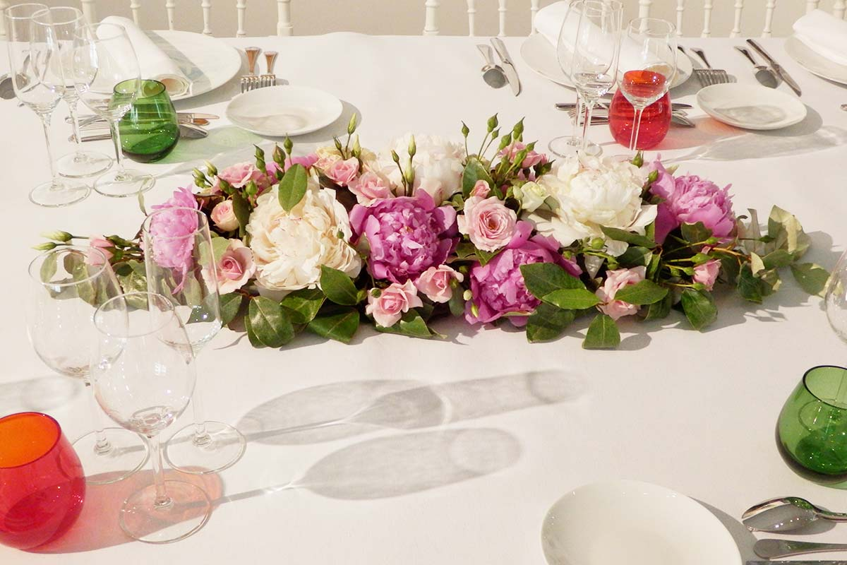 Centre de table pivoines mariage fleuriste bordeaux for Bouquet de fleurs centre de table