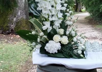 Un mariage à la décoration blanche