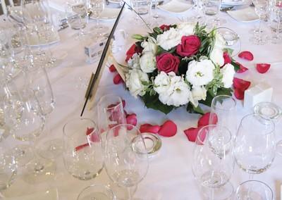 Une décoration florale au thème romantique
