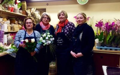 Catherine Veyssy fleuriste d'un jour chez Françoise Reynal