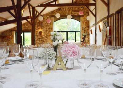 Mariage rose et blanc à Grignols
