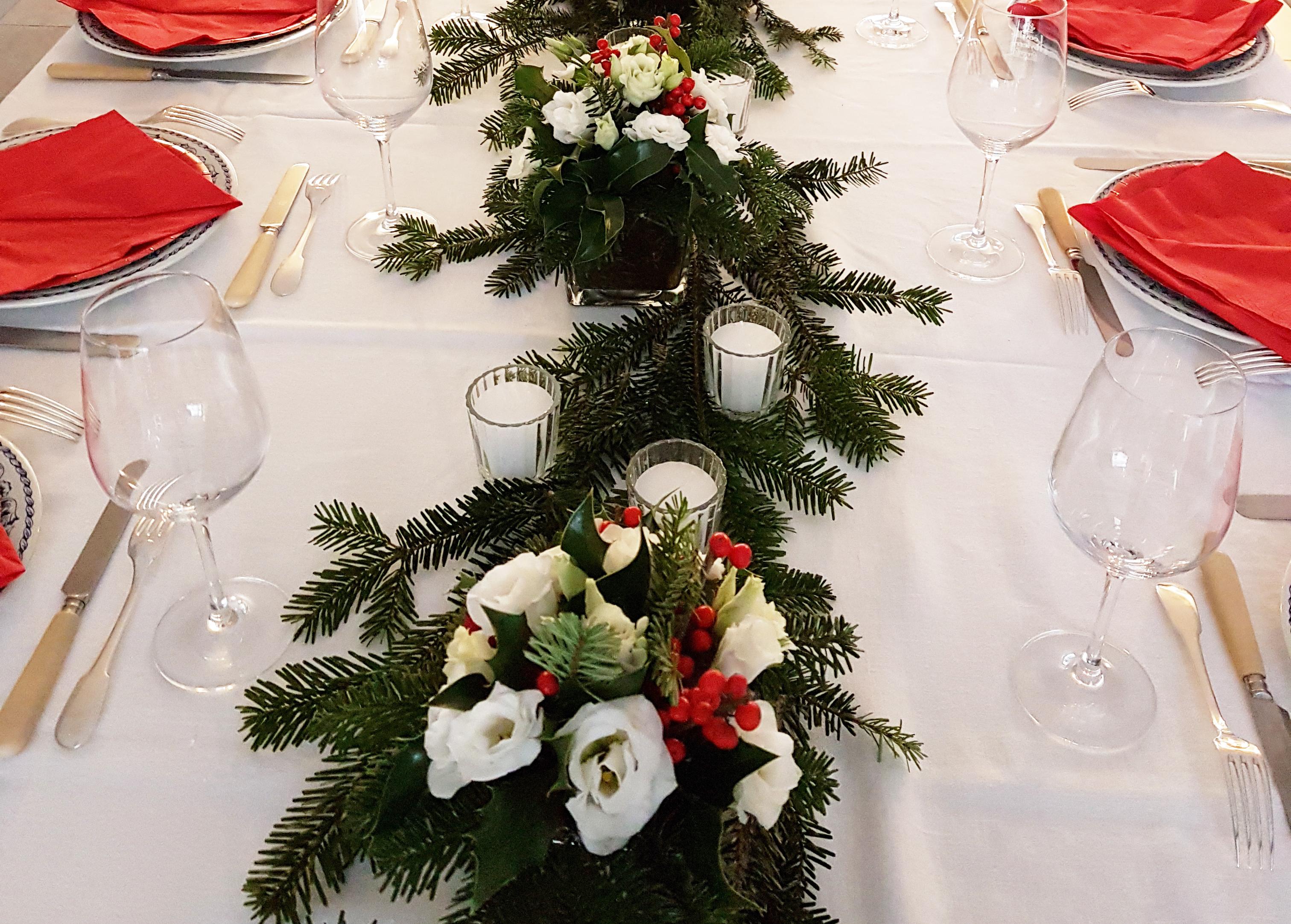 Comment Faire Un Centre De Table Avec Des Fleurs votre décoration de table de noël