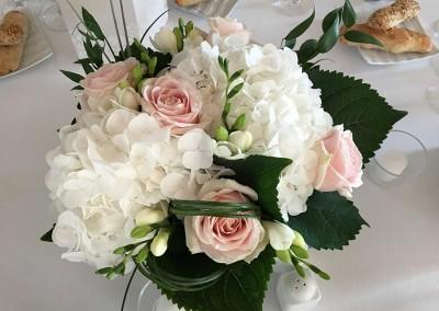 Mariage blanc et rose poudré